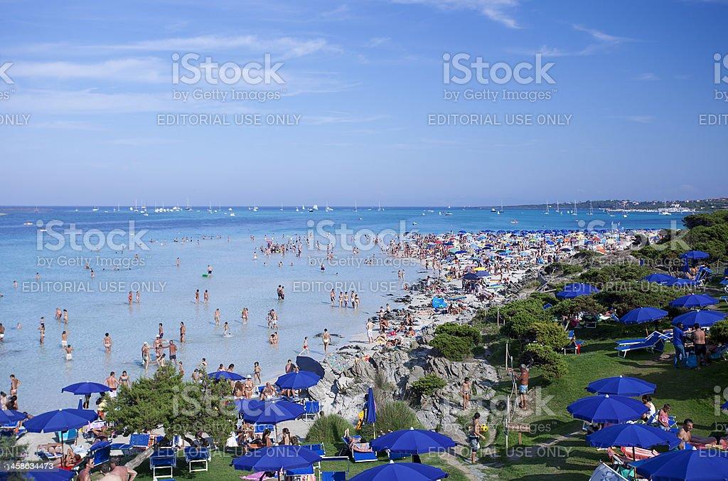 La Pelosa Beach, Stintino, Sardinia, Italy royalty-free stock photo