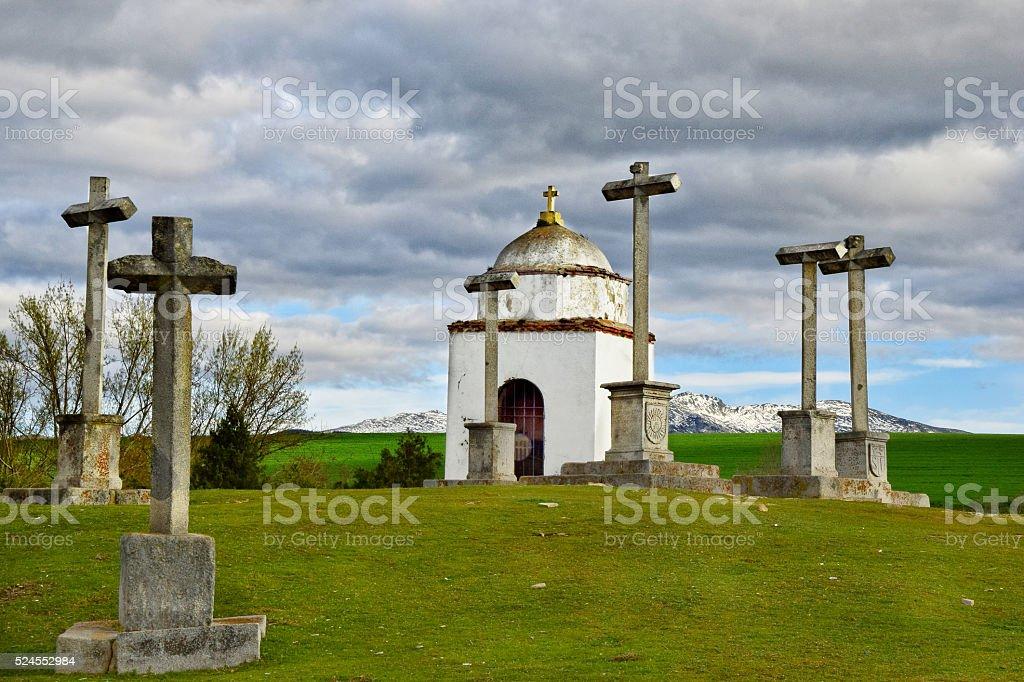 La Piedad / Piety (Segovia) stock photo
