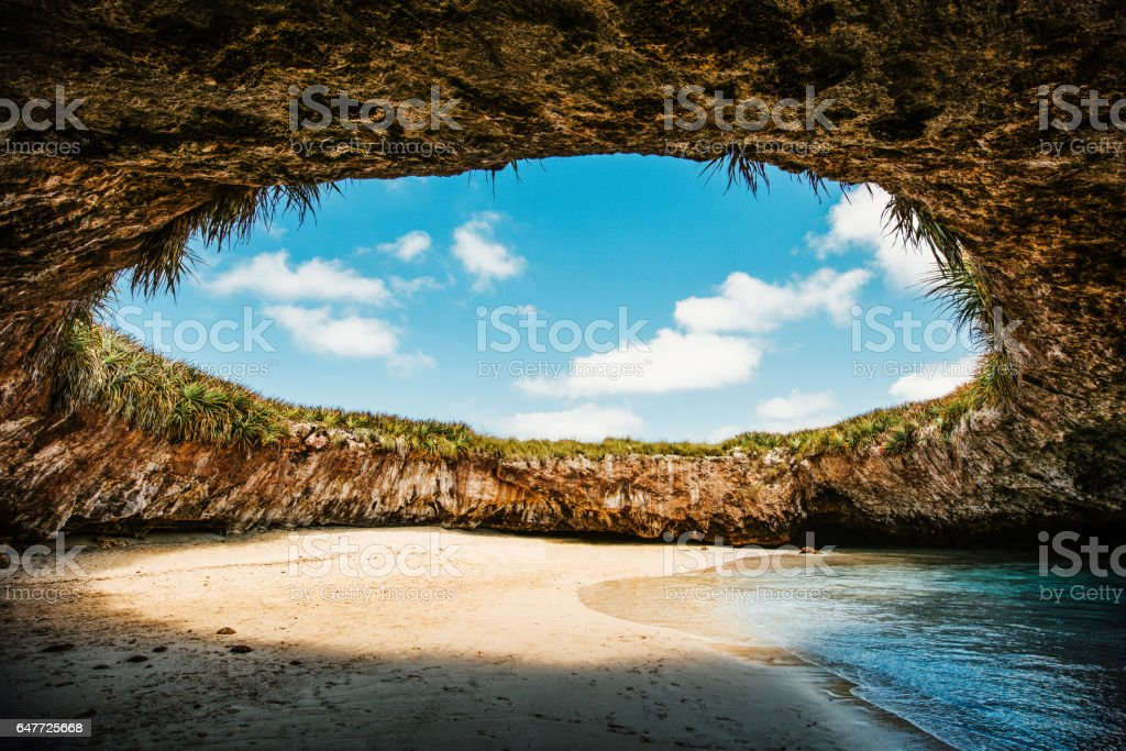 La Playa Escondida Islas Marietas Puerto Vallarta stock photo