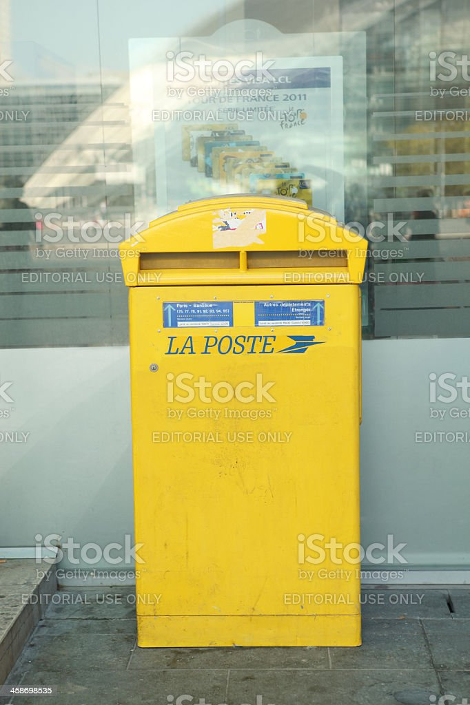 La poste Mailbox in France royalty-free stock photo