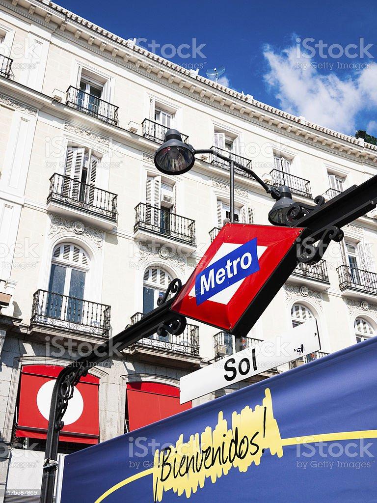 La Puerta del Sol Madrid royalty-free stock photo