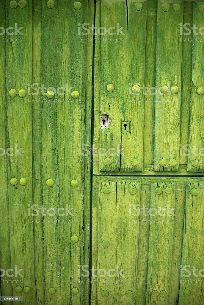 La puerta verde royalty-free stock photo