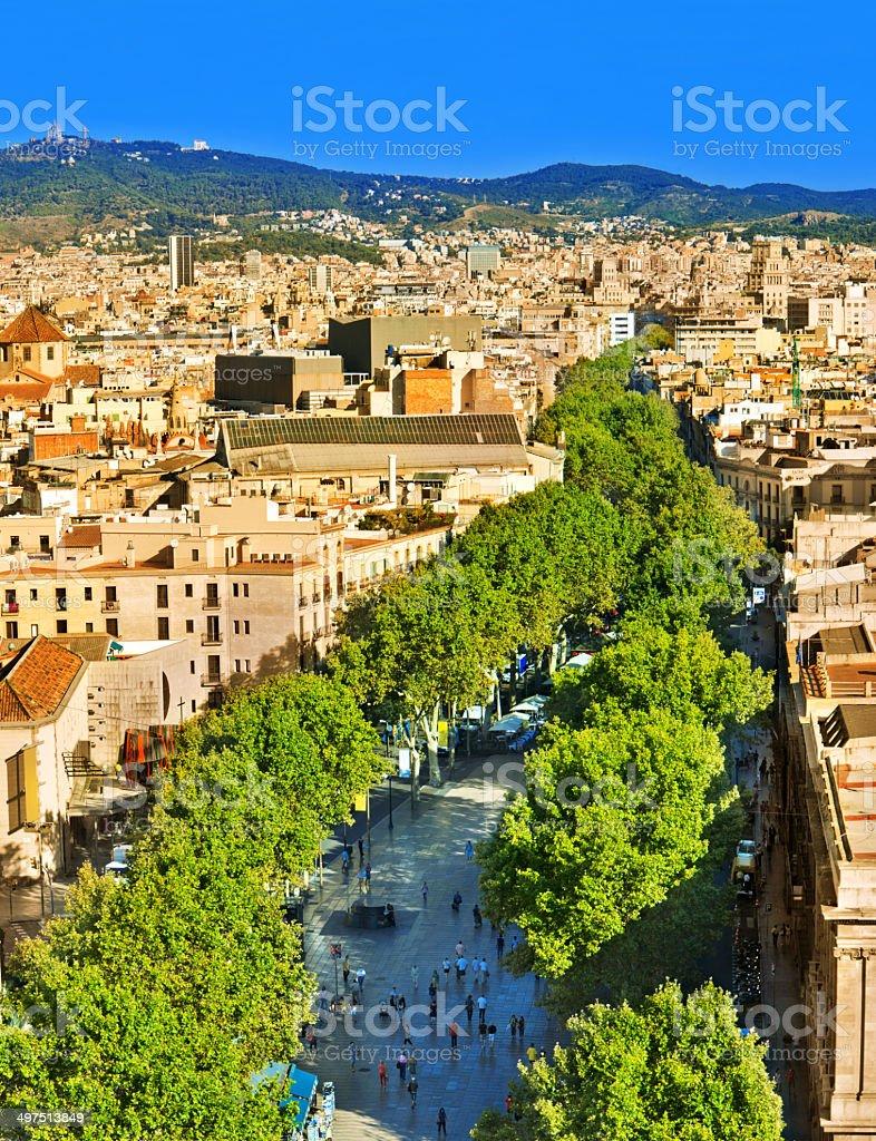 La Rambla Barcelona stock photo