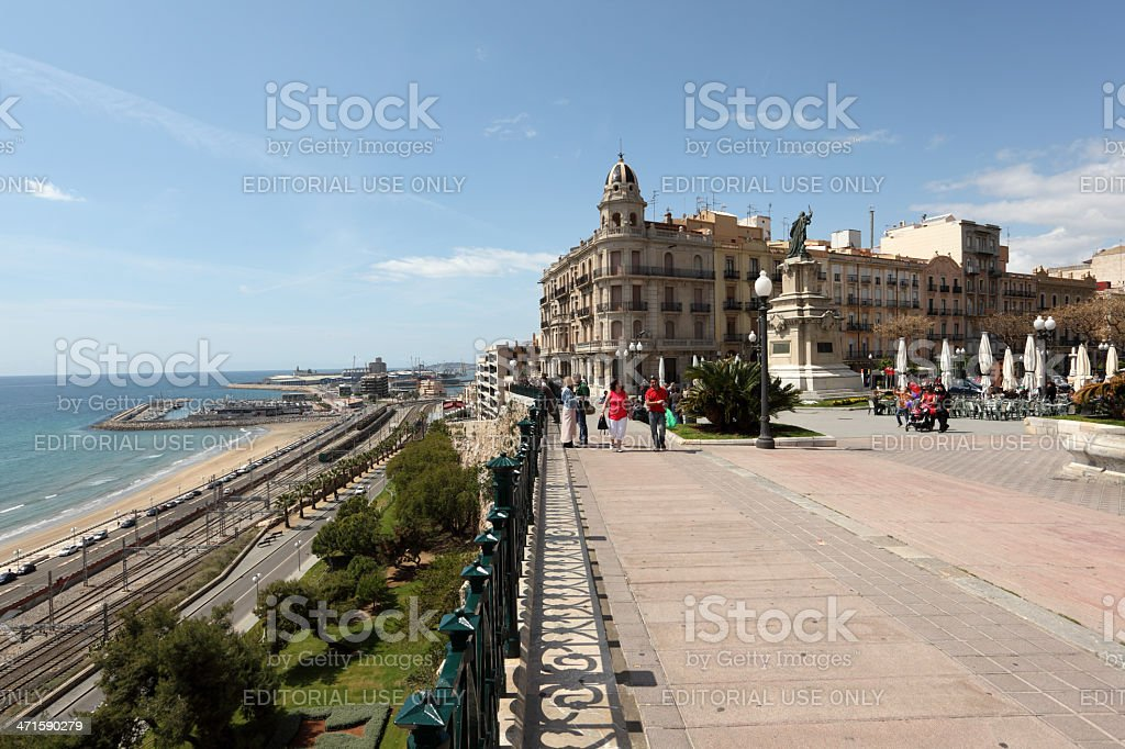 La Rambla in Tarragona, Spain royalty-free stock photo