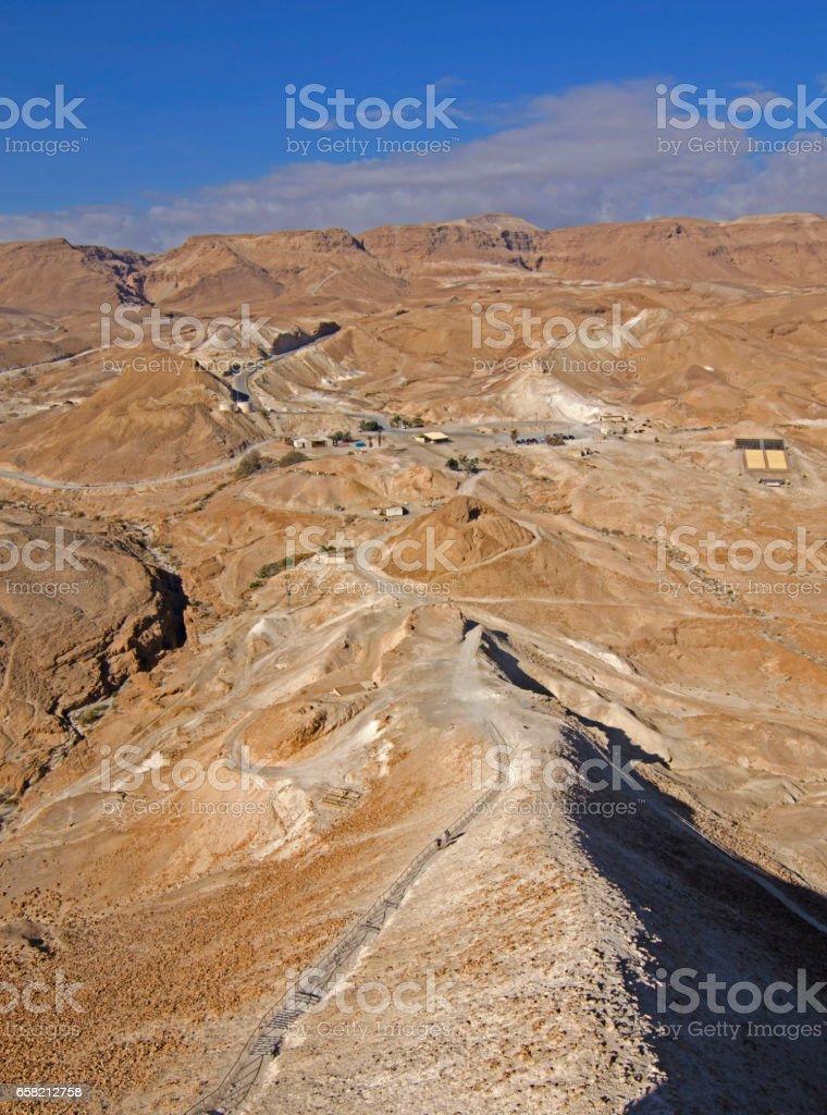 La rampa romana en Masada - Israel stock photo