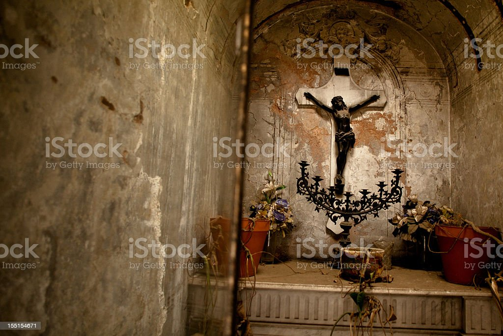 La Recoleta Cemetery royalty-free stock photo
