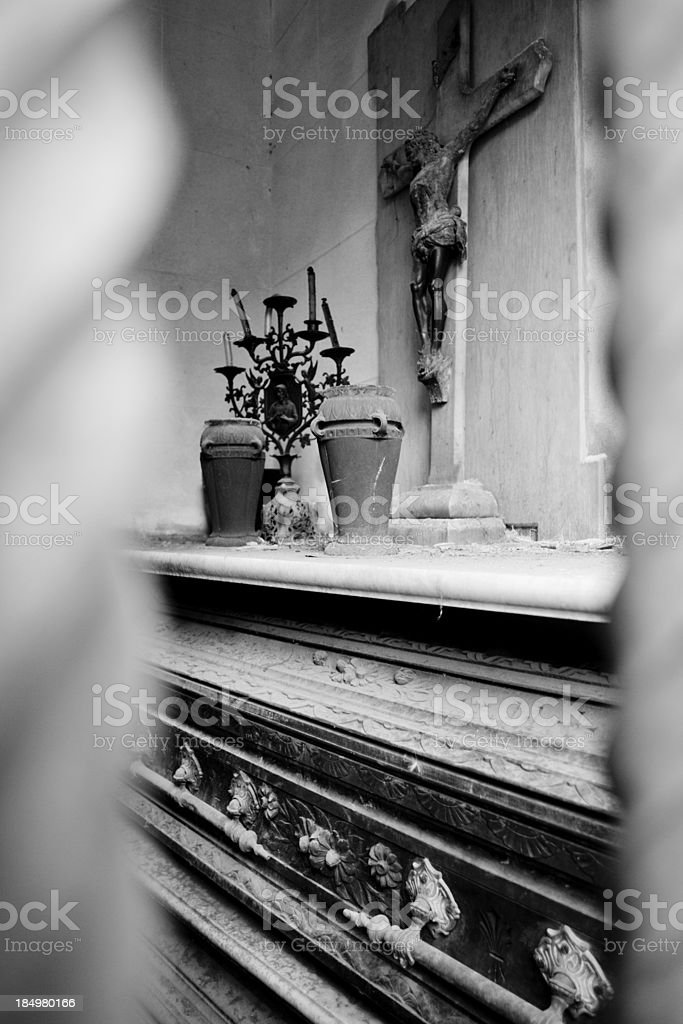 La Recoleta Cemetery royalty-free stock photo