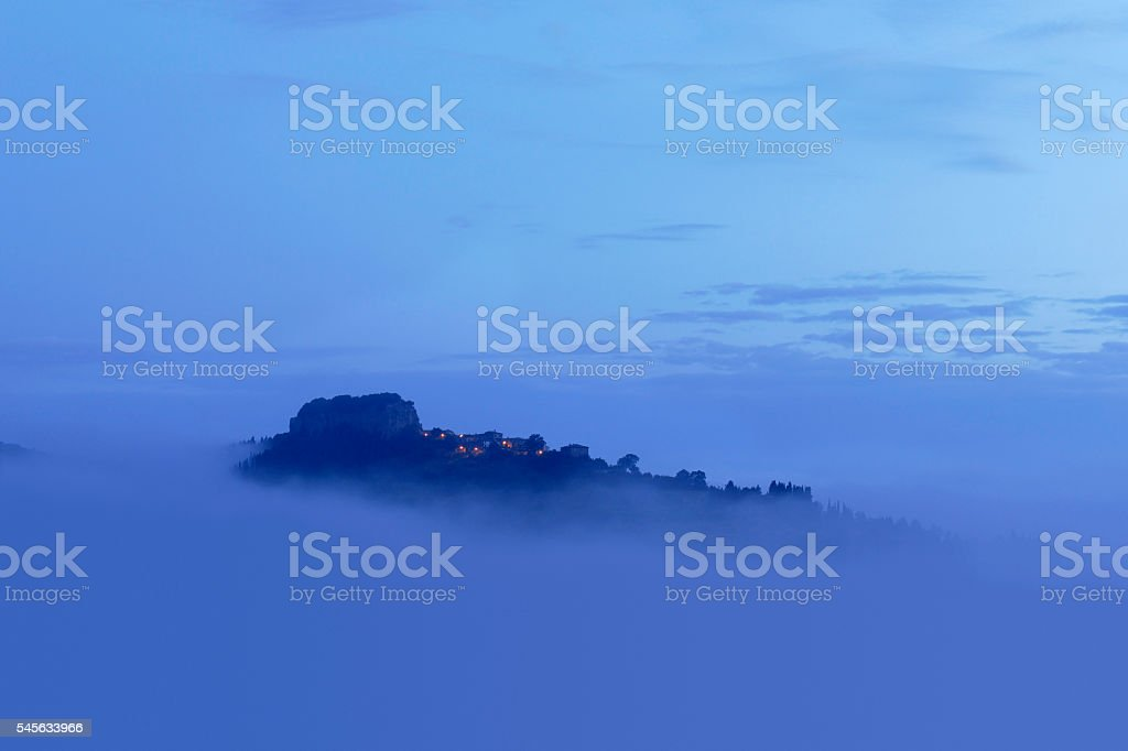 La Rocca at Dawn - Orvieto stock photo