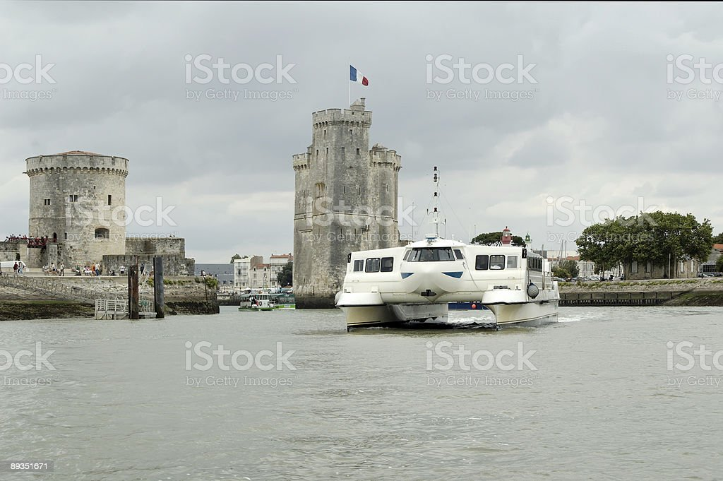 La Rochelle Harbour (France) royalty-free stock photo