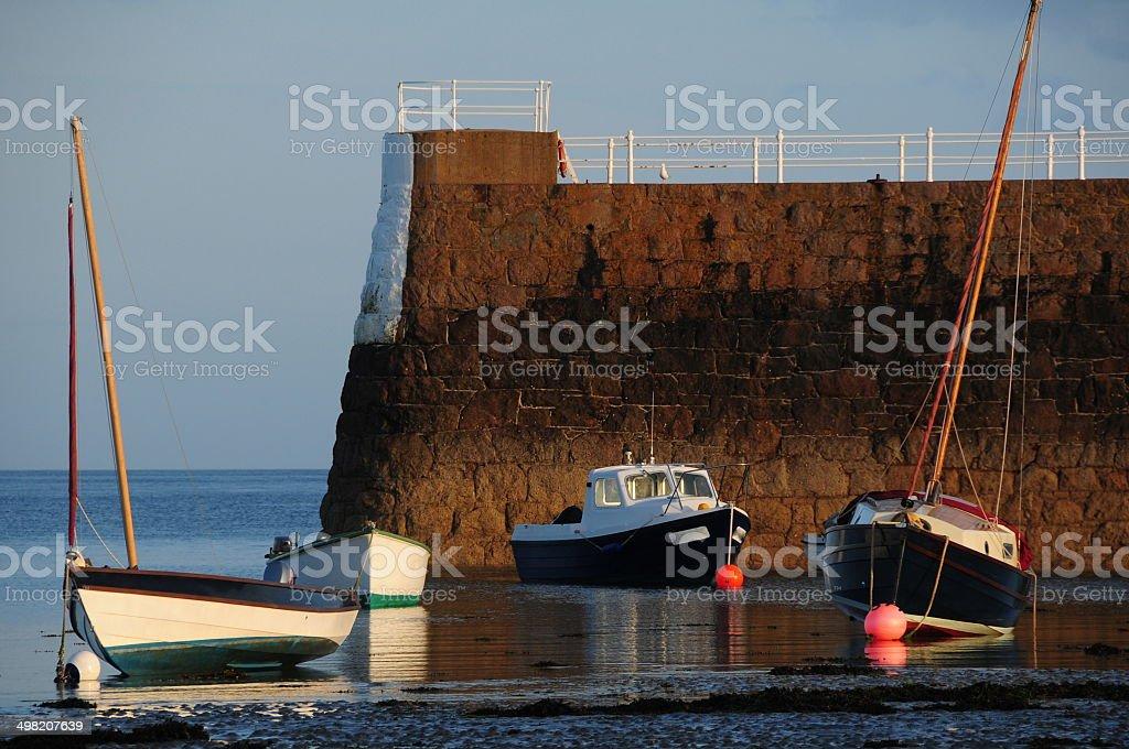 La Rocque harbour, Jersey, U.K. royalty-free stock photo