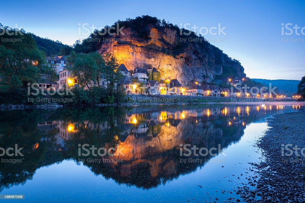La Roque Gageac stock photo