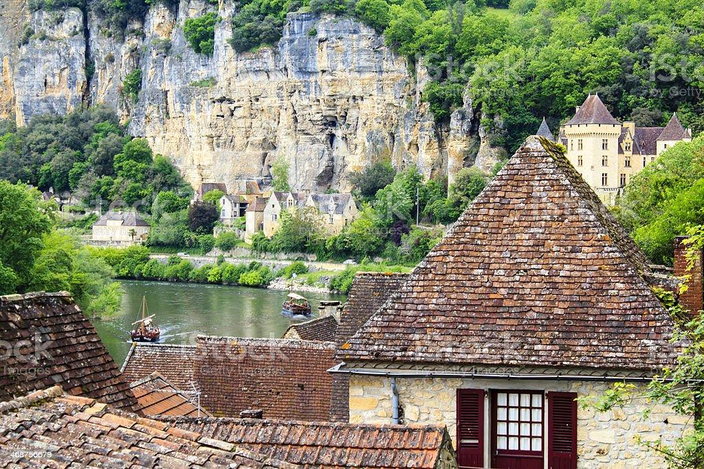 La Roque-Gageac village, France royalty-free stock photo