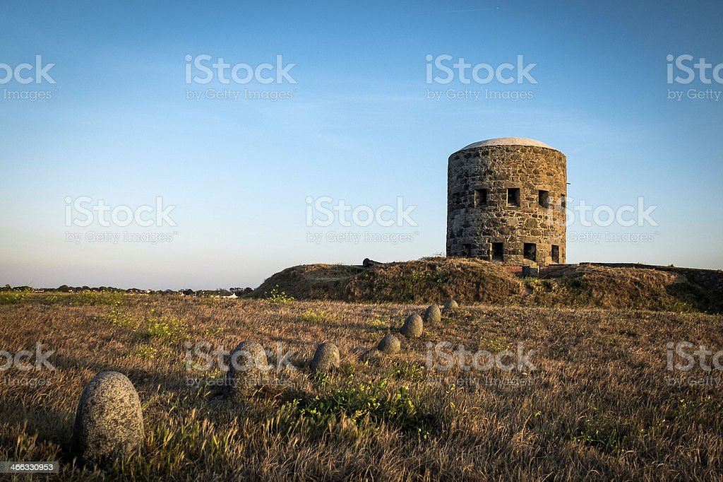 La Rousse Tower, Guernsey, Channel Islands stock photo