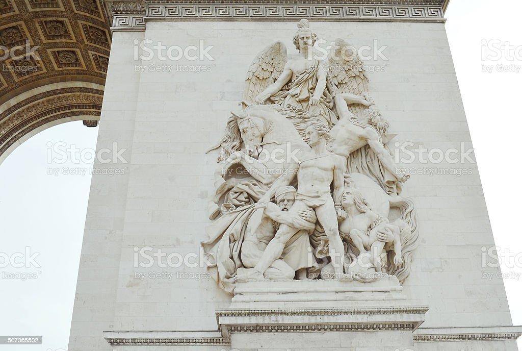 La Résistance - Arc de Triomphe stock photo