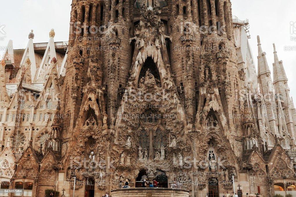 La Sagrada Familia - the cathedral designed by Gaudi stock photo