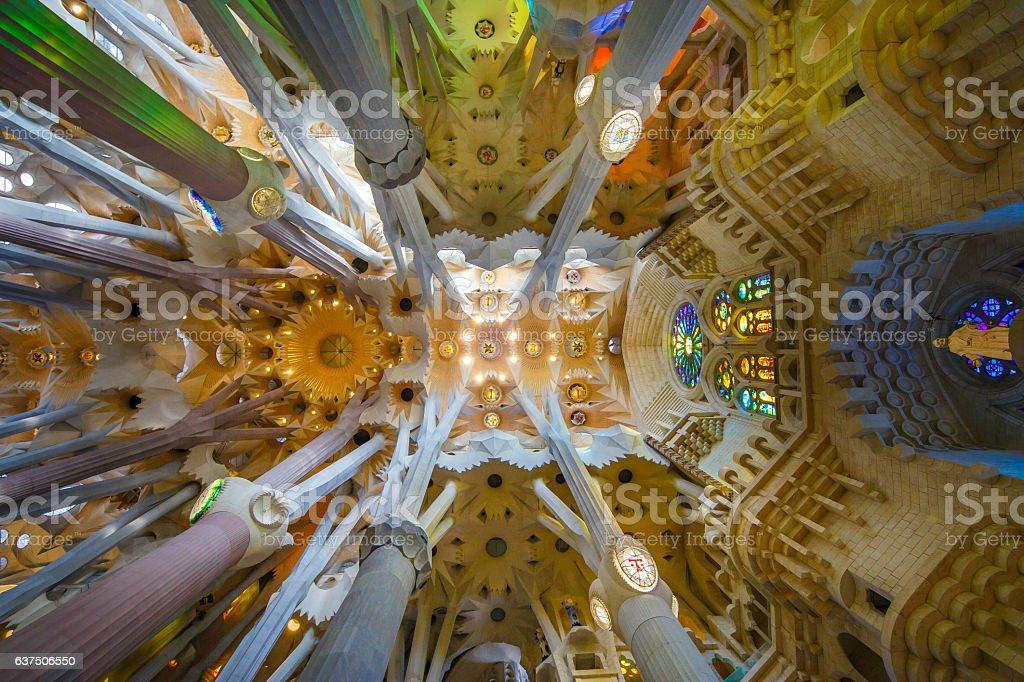 'La Sagrada Familia', the unrealistic cathedral designed by Gaudi stock photo