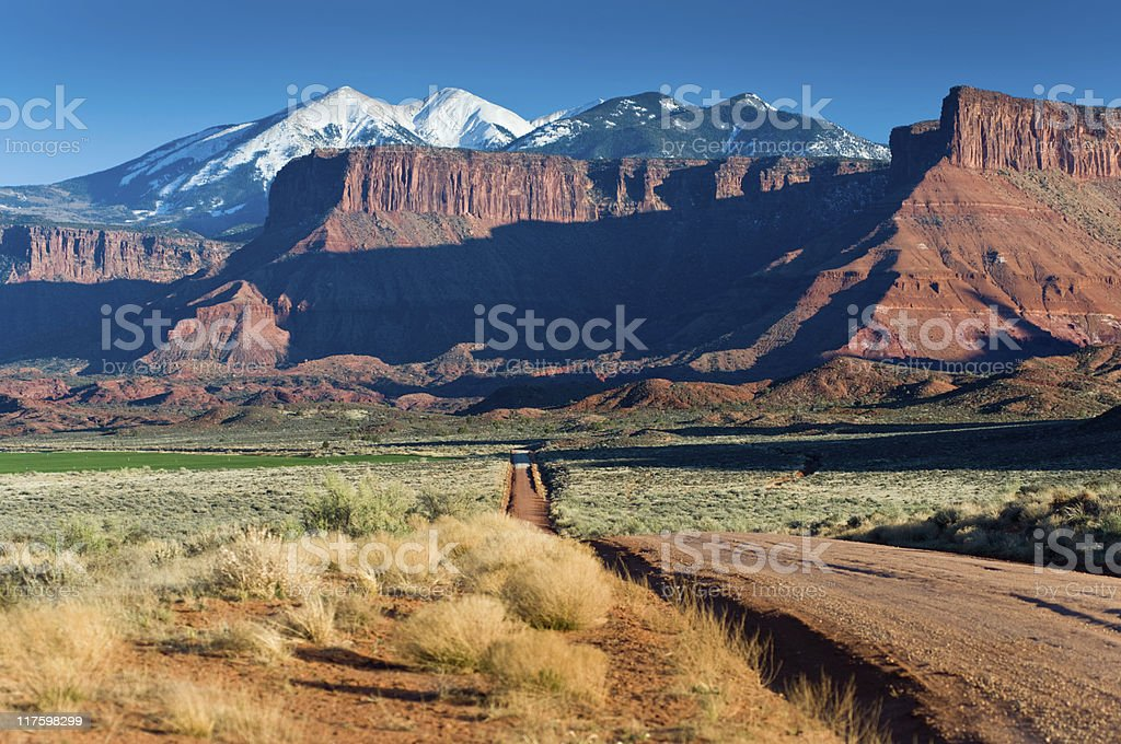 La Sal Mountains near Moab stock photo