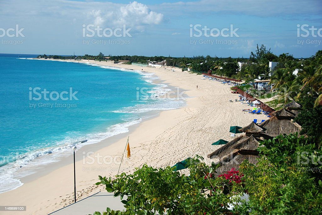 La Samanna Beach, St Martin FWI royalty-free stock photo