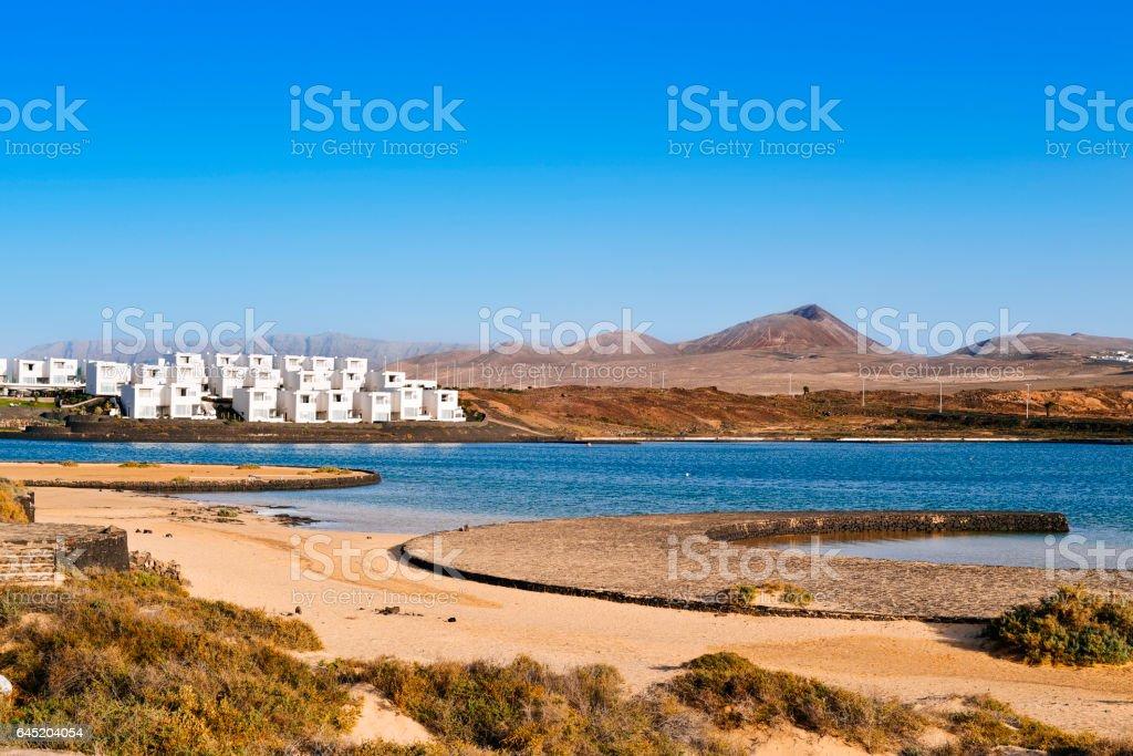 La Santa Beach in Lanzarote, Canary Islands, Spain stock photo
