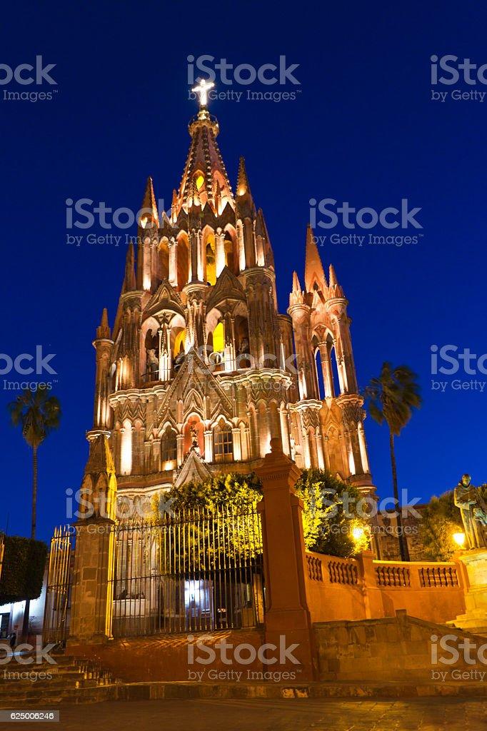 La Santa Escuela de Cristo, San Miguel de Allende, Mexico stock photo