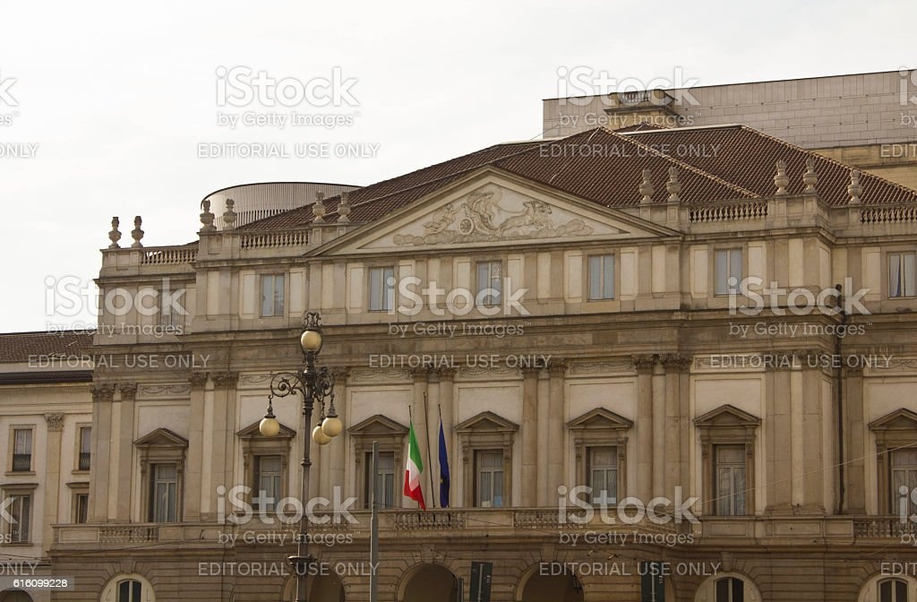 La Scala opera house in Milan stock photo