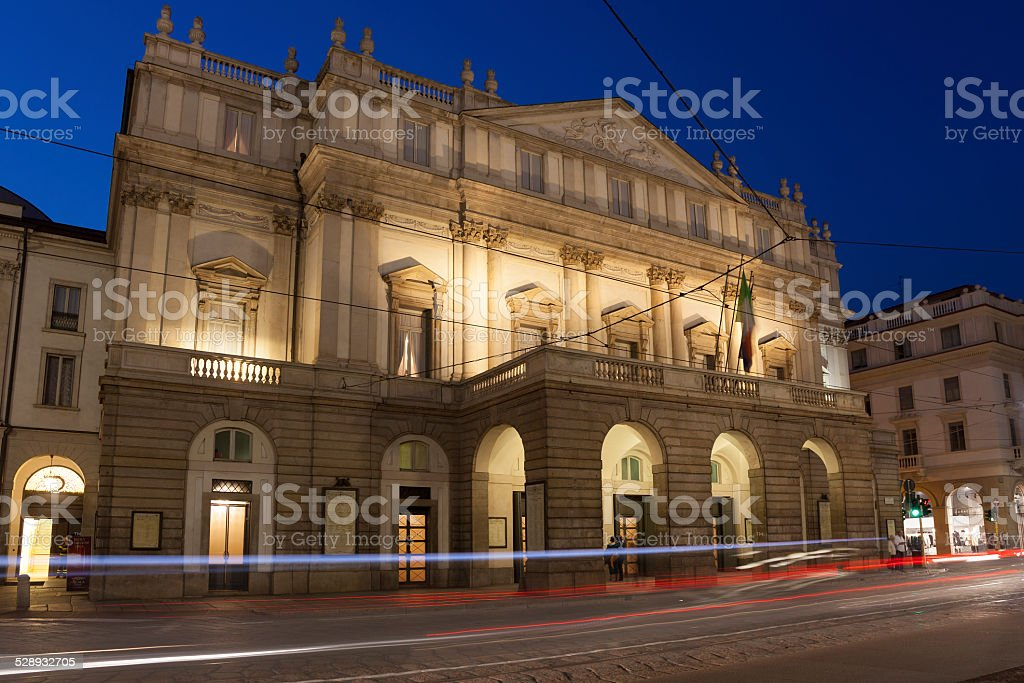 La Scala Opera House, Milan stock photo