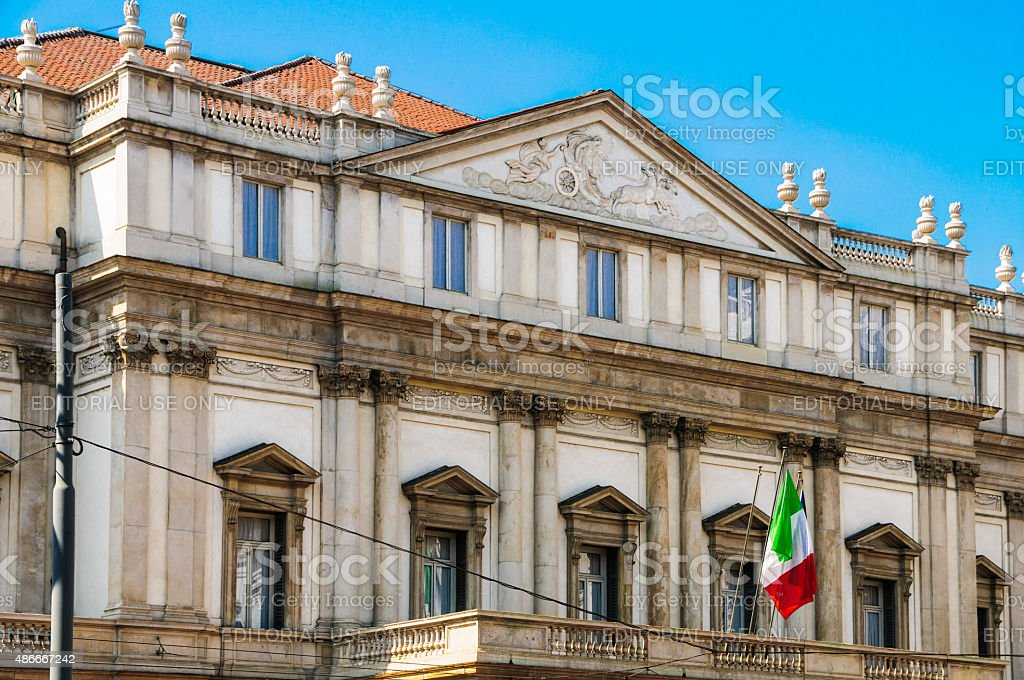 La Scala Theater Detail stock photo