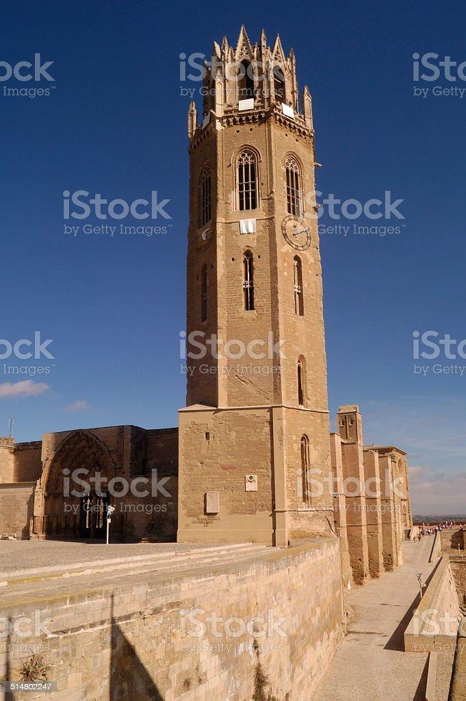 La Seu vella, Catedral, Lerida, Spain stock photo