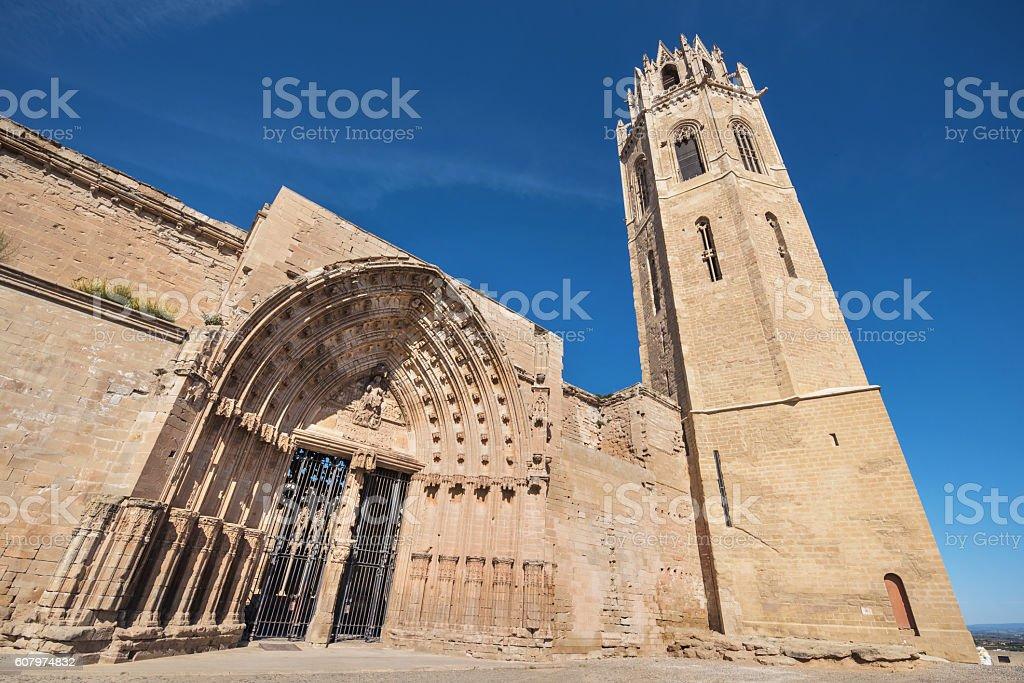 La Seu Vella cathedral in Lleida, Catalonia, Spain. stock photo