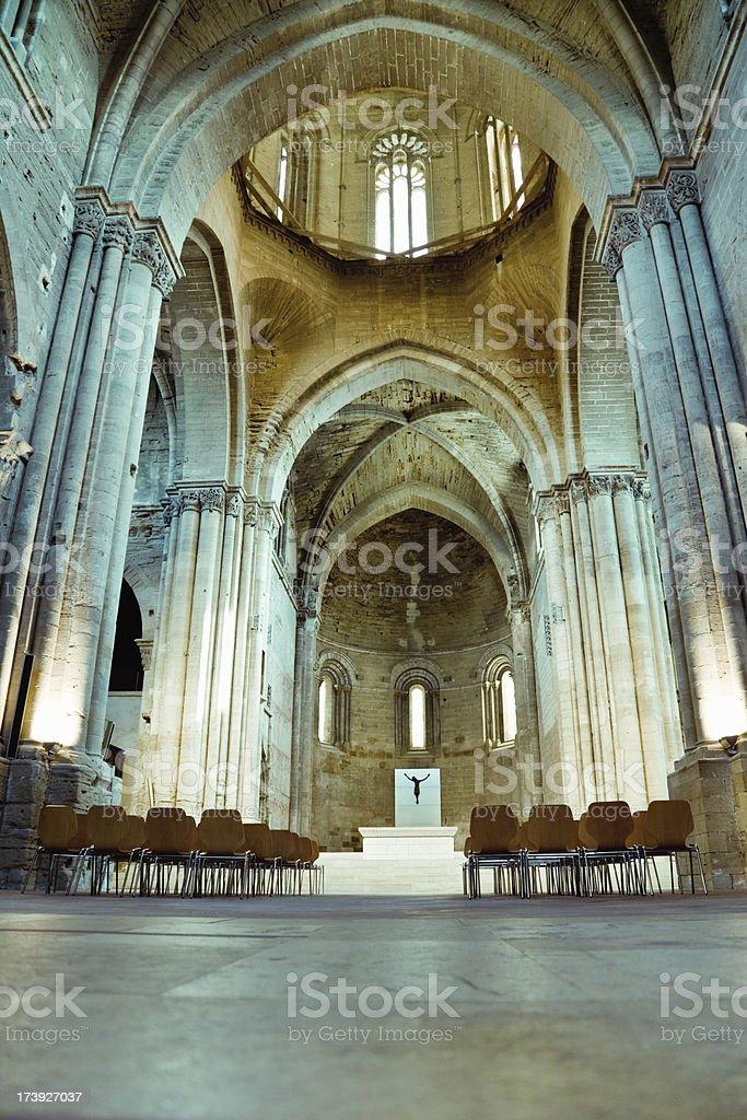 La Seu Vella - Cathedral Interior stock photo