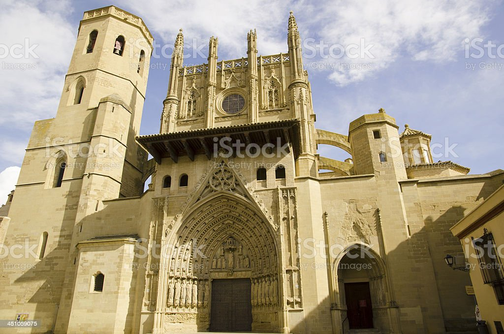 La Seu Vella Cathedral, Lleida, Catalonia, Spain stock photo