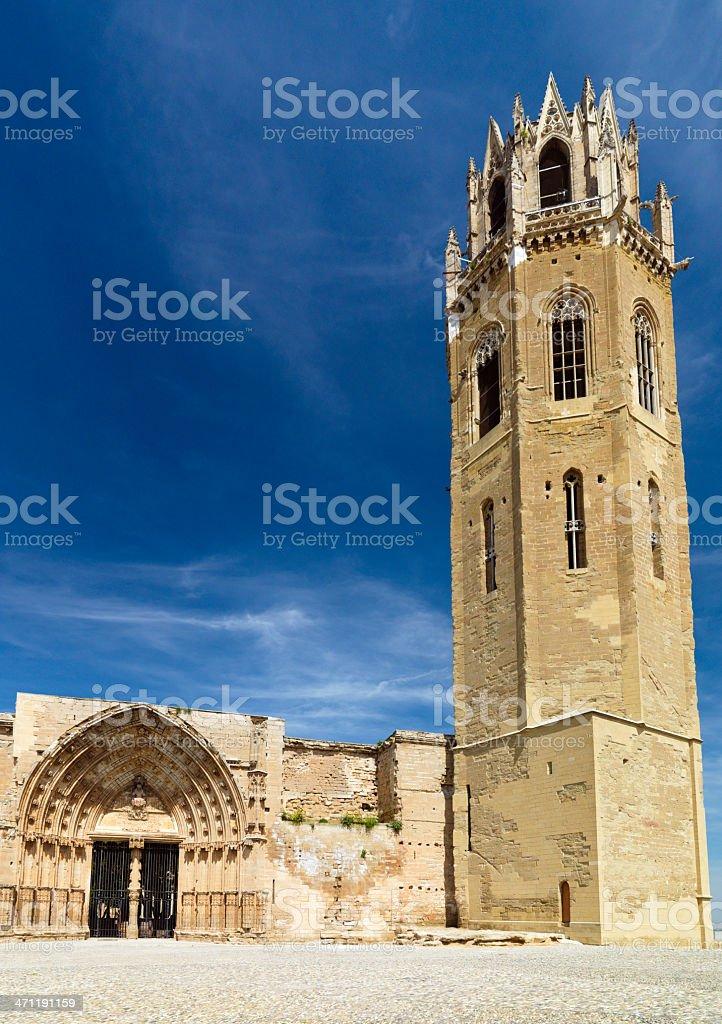 La Seu Vella Cathedral Lleida Catalonia Spain stock photo