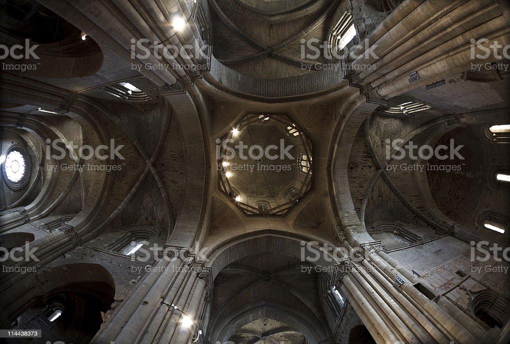La Seu Vella Ceiling stock photo