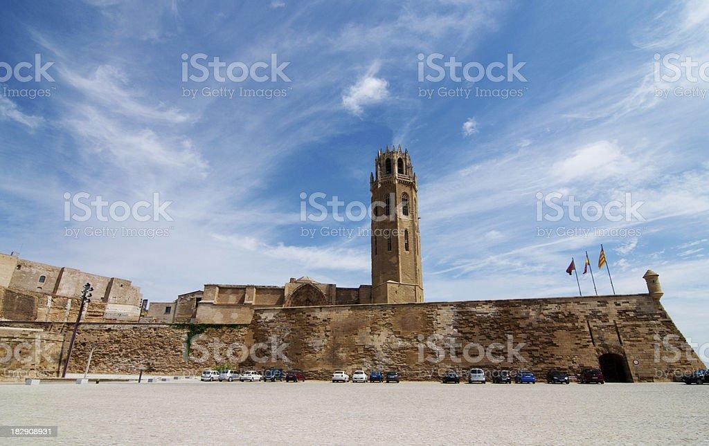 La Seu Vella, Lleida, Spain stock photo