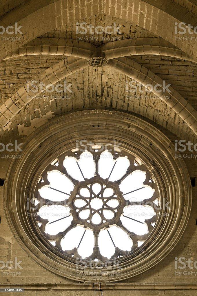 La Seu Vella rosette. stock photo