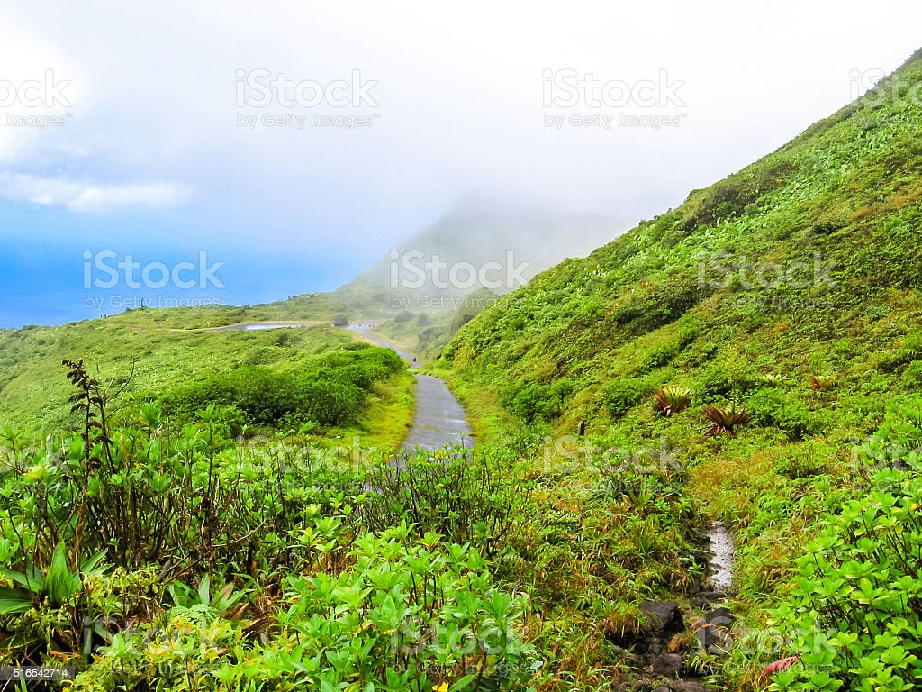 Volcan La Soufriere stock photo
