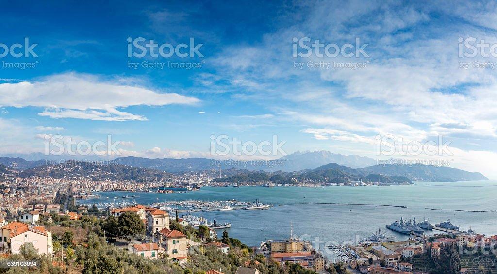 La Spezia, Italy - XXXL Panorama stock photo