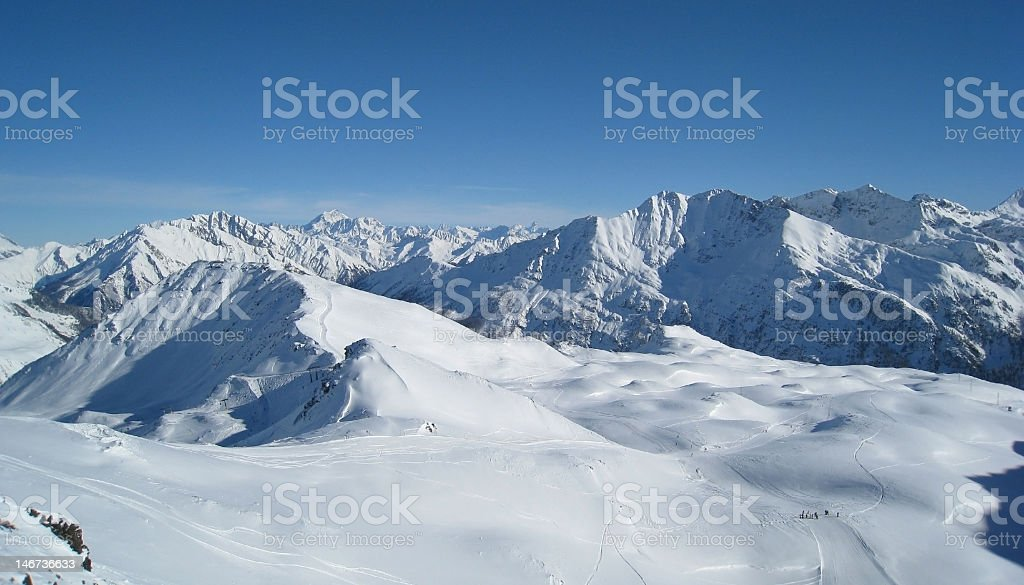 La Thuile ski resort, Italy royalty-free stock photo