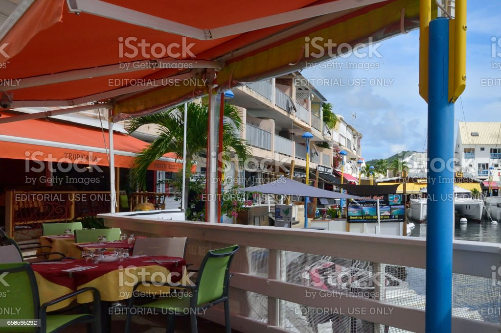 La Tropicana Restaurant in Marigot stock photo