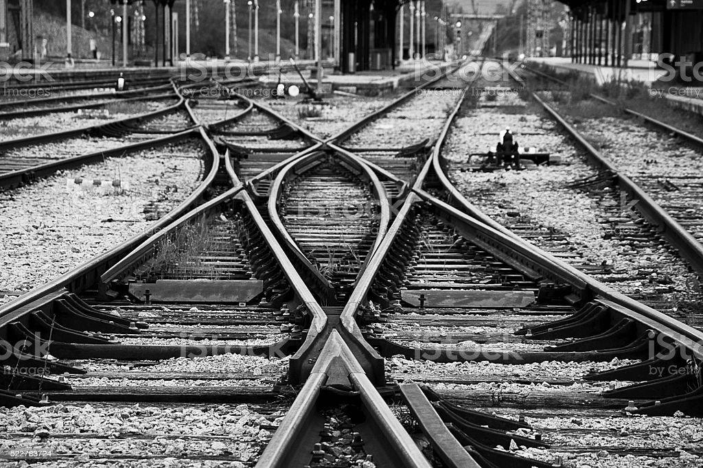 La vieja estación de trenes stock photo