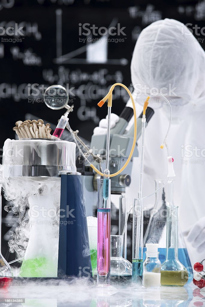 lab chemical analysis royalty-free stock photo