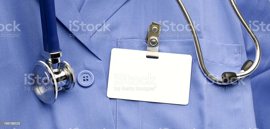 Lab Coat with ID stock photo