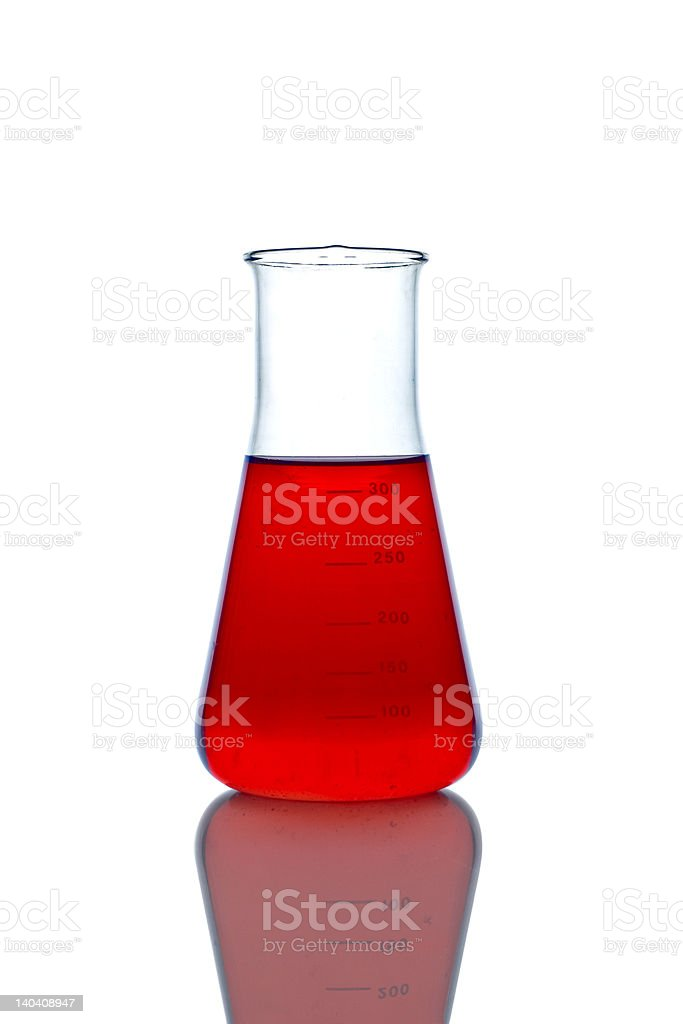 Lab glassware royalty-free stock photo