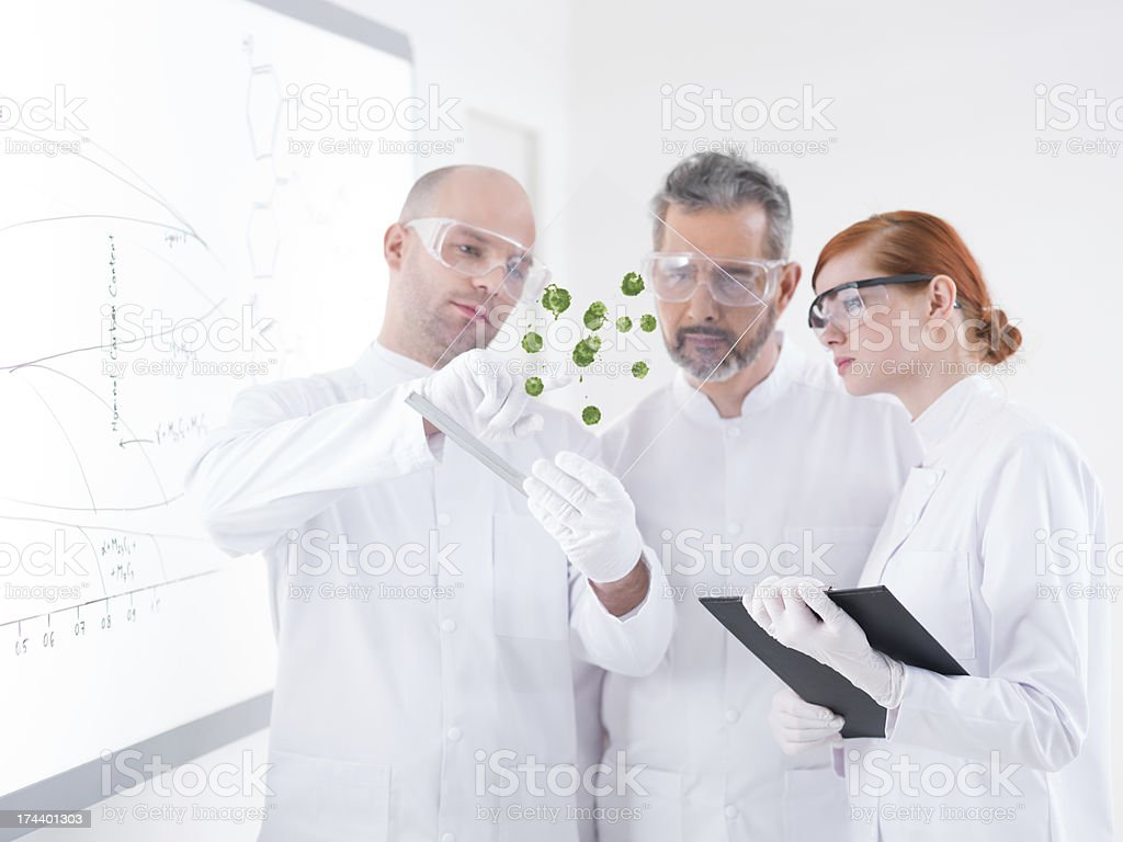lab green samples analysis royalty-free stock photo