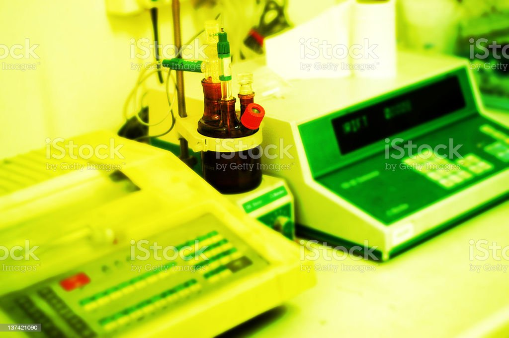 lab instruments royalty-free stock photo
