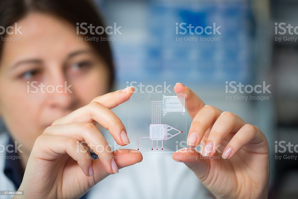 lab on chip is device stock photo
