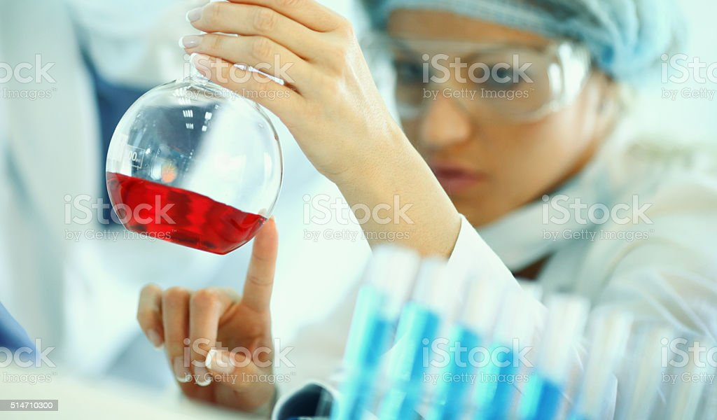 Lab research. stock photo