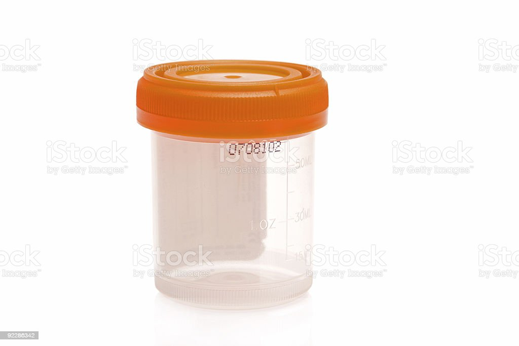 Lab Specimen Bottle stock photo