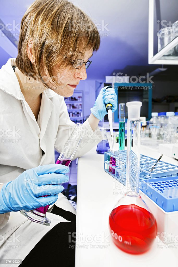 Lab technician at work royalty-free stock photo