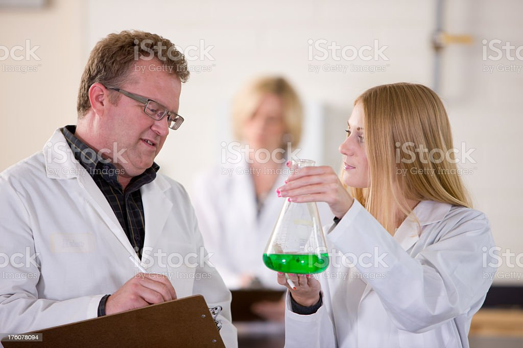 Lab Technician Shows The Results Of Test royalty-free stock photo